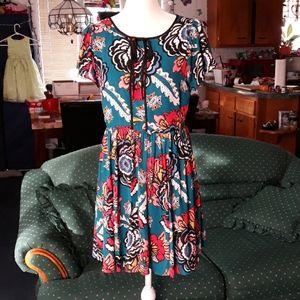 Express floral and paisley fun print dress